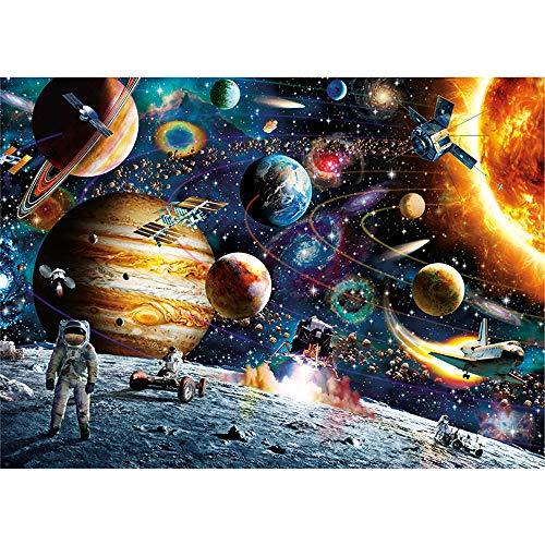 Guoc Rompecabezas Espacial Rompecabezas para Adultos Ups Rompecabezas de 1000 Piezas para Adultos Planetas en el Espacio Rompecabezas de Piso