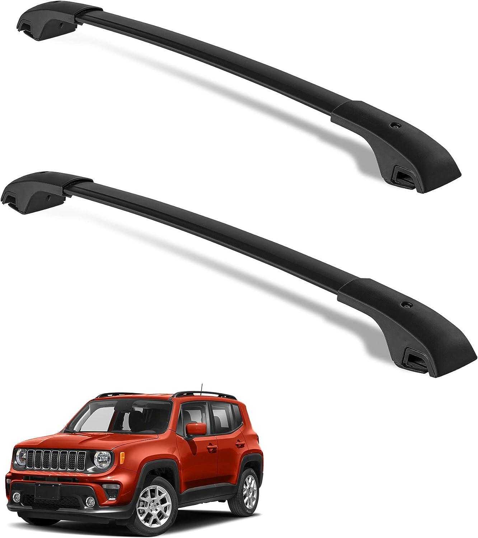 Elegant LEDKINGDOMUS Cross Bars Roof Brand new Racks for 2015-2021 Jeep Compatible