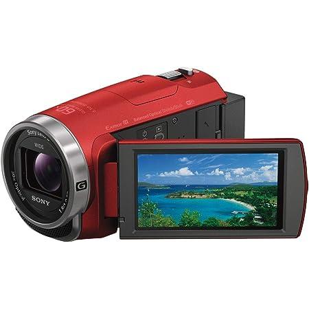ソニー ビデオカメラ Handycam HDR-CX680 光学30倍 内蔵メモリー64GB レッド HDR-CX680 R