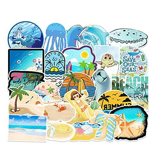 KPSHY Ocean DIY Pegatinas Personalizadas Pegatinas de Anime Pegatinas al Aire Libre Refrigerador Impermeable Botella de Agua Computadora portátil Funda para teléfono móvil Diario Trolley Case