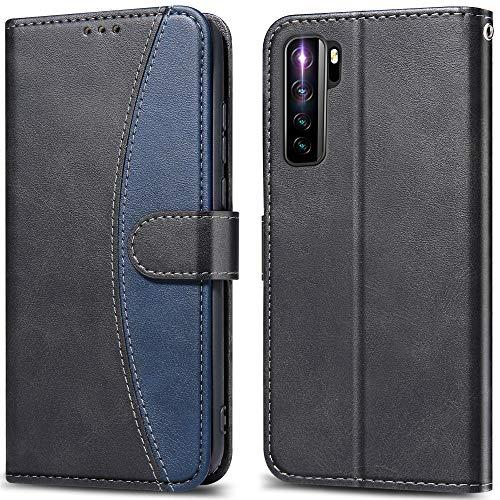 LEBE Funda para Huawei P40 Lite 5G,Cuero Carcasa con Flip Case Cover[Cierre Magnético] [Ranuras para Tarjetas]para Huawei P40 Lite 5G -Negro