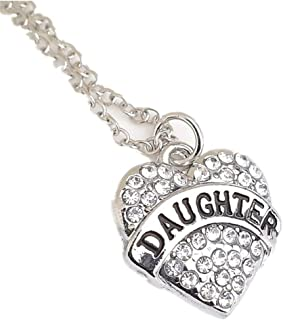 MaxTide Mother Day Austrian Crystal Round Pendant Necklace for Women Girls Party Gifts
