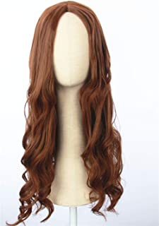 Cosplaywigscom: Scarlet Witch Wig Inspired by avengers age of Ultron Long Brown Natural Curly Central Parting PartCosplay Hair for Adults and Teens