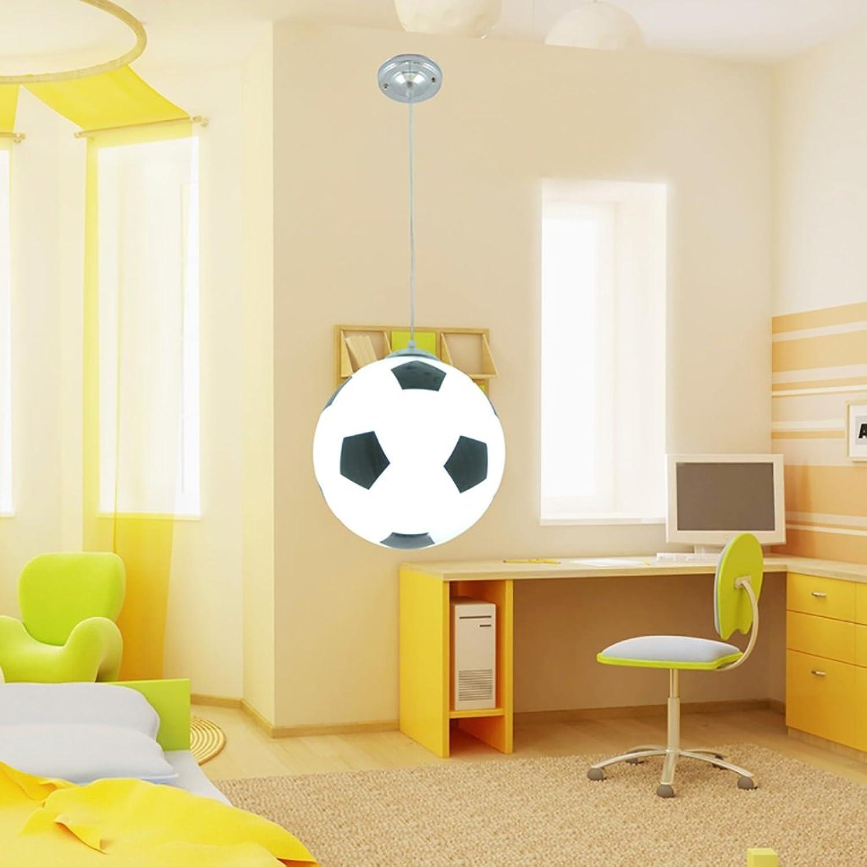 Lihuideng Leuchter, Kinderzimmer, moderner Fuballleuchter, minimalistischer Schlafzimmerdekorationjunge, Mdchenkindleuchter Gre  25  80cm (Farbe   Schwarz)