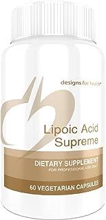 Designs for Health Lipoic Acid Supreme - 300mg ALA + Biotin + Taurine for Blood Sugar Support (60 Capsules)
