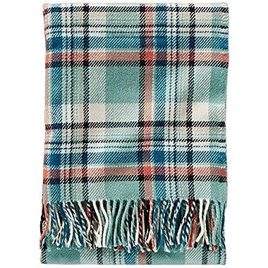 Pendleton Washable Wool Throw - Aqua Sky