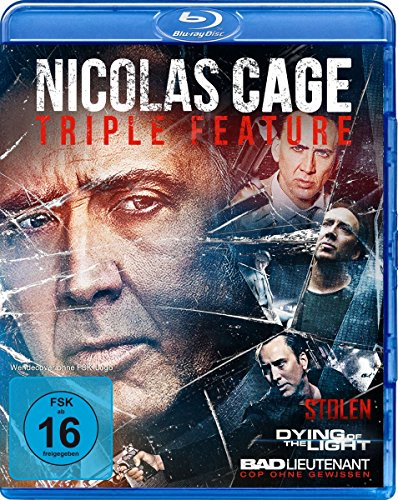 Nicolas Cage Triple Feature : Bad Lieutenant - Dying Of The Light - Stolen [Blu-ray]