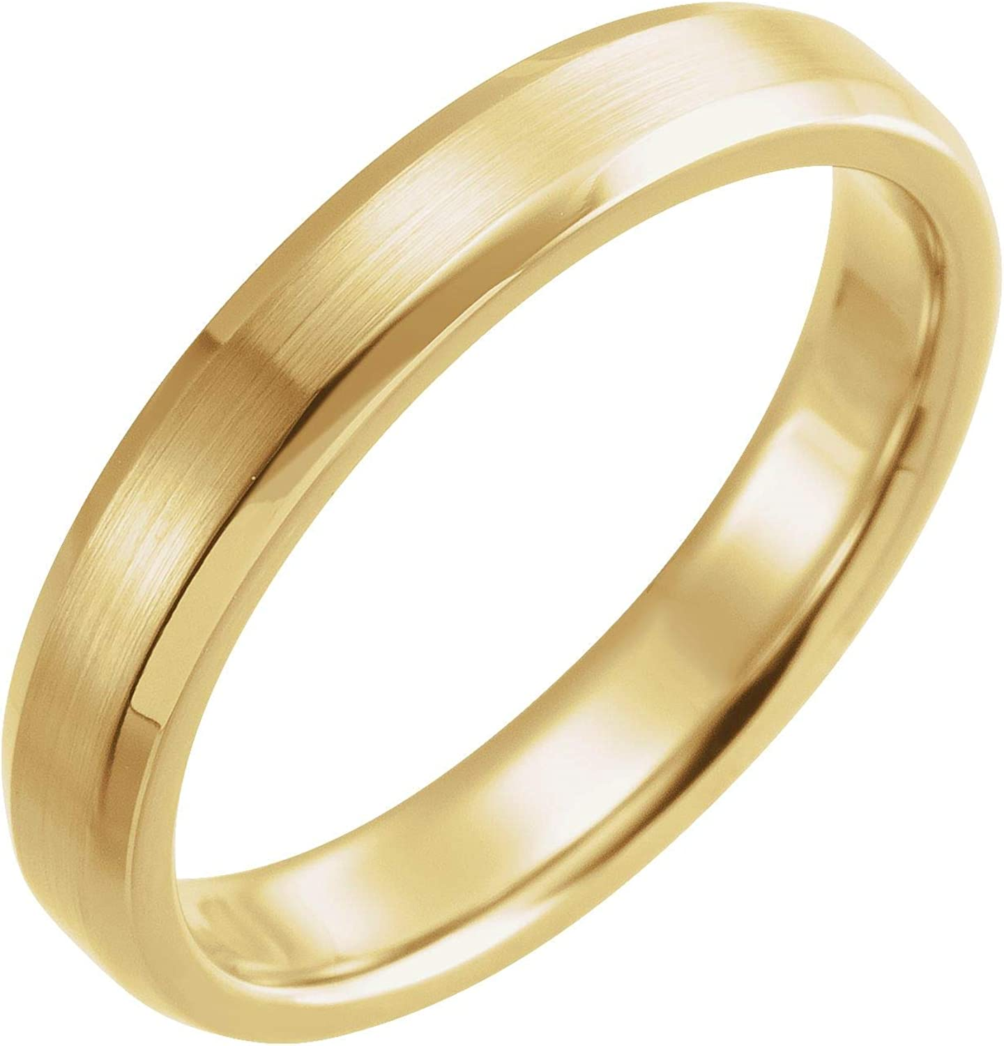 Diamond2Deal 18k Yellow Gold online shop Large discharge sale 4 Band Edge Comfort-Fit mm Beveled