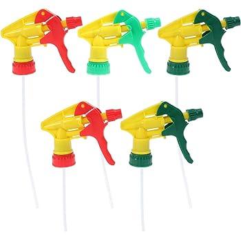 5PCS Chemical Resistant Trigger Sprayer Spray Bottle Head Cleaner Nozzle Garden.