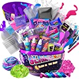 GirlZone Egg Surprise Galaxy Slime Kit for Girls, Measures 9.5 Inches High, 41 Pieces to Make DIY Glow in The Dark Slime with Lots of Fun Glitter Slime Add In's, Great Gifts for Girls 10-12 Years Old