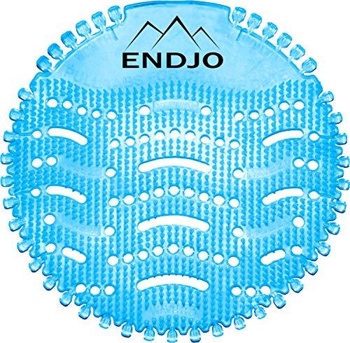 ENDJO Premium Urinalsieb - Spritzschutz und Frischeduft nach Baumwollblüte mit Kalenderfunktion in der Herrentoilette, Urinaleinlage passend für jedes Urinal oder Pissoir - Blau, 2 Stück