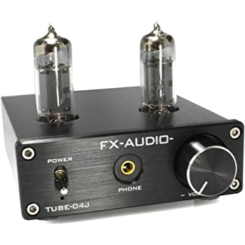 FX-AUDIO- TUBE-04J 真空管ハイブリッドプリメインアンプ 真空管+デジタルアンプIC (ブラック)
