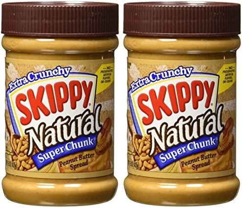 Skippy Super Chunk Natural Peanut Butter Spread 15 oz 2 Pack product image