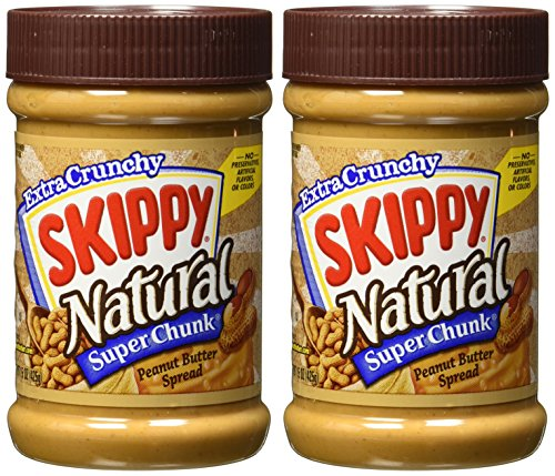 Skippy Super Chunk Natural Peanut Butter Spread 15 oz 2Pack