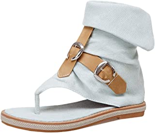 MisaKinsa Women Casual Summer Shoes Flats Gladiator Sandals