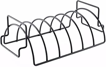 Rib Rack for Grilling,Non-Stick Stainless Steel BBQ Tools Steak Holders with 2 Handle Rack Grill Stand Roasting BBQ Rib Rack Kitchen Outdoor Barbecue Accessories