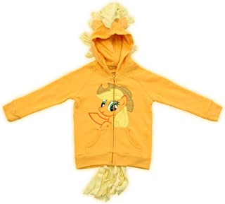 My Little Pony Hoodie Applejack Girls Orange Costume Sweatshirt