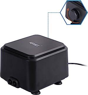 hygger Quietest Aquarium Air Pump, Adjustable Oxygen Pump 2 Air Outlets Ultra Silent Powerful Aerator Pump for 20-600 Gall...