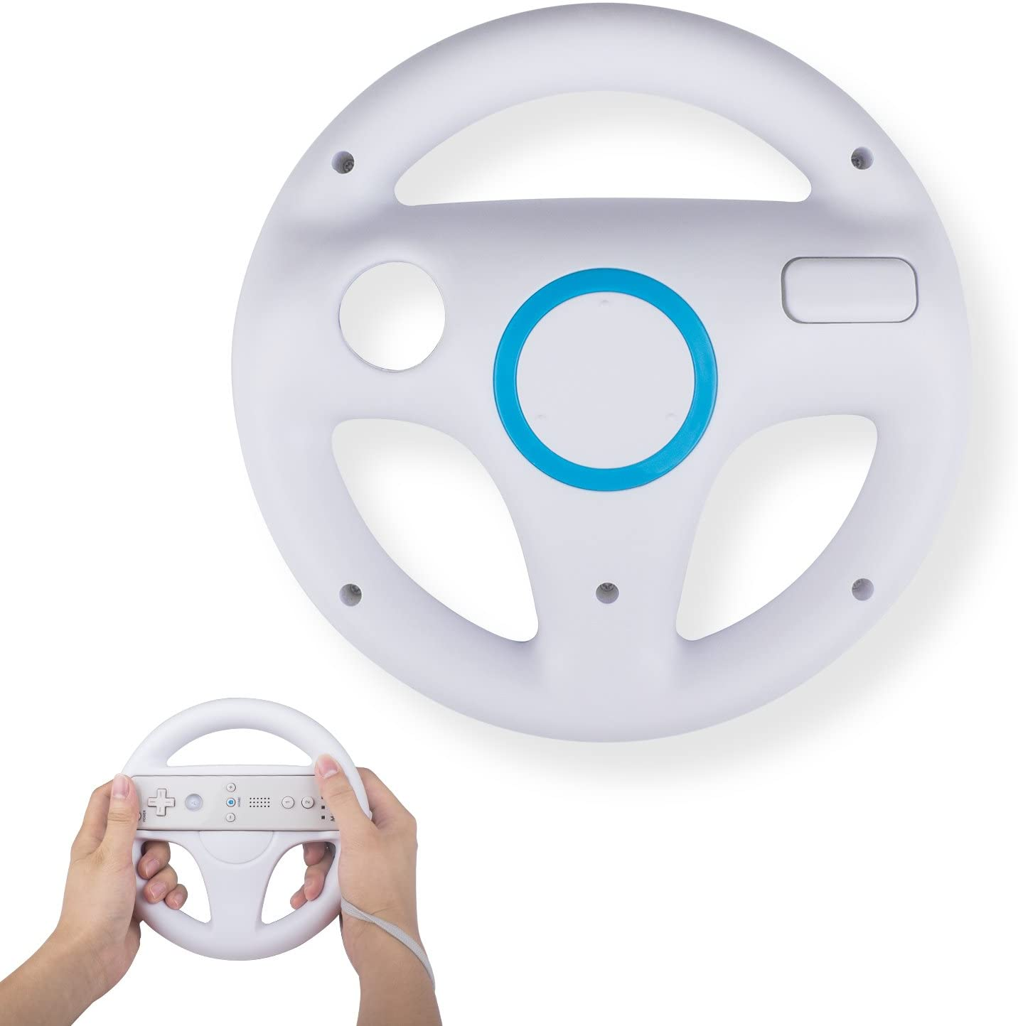 TechKen Racing Wheel Compatible Wii Great interest Controllers Tucson Mall Remotes for