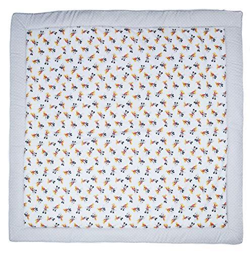Manta de suelo acolchada de gateo, actividades y juegos para bebés con aislante del frío. Varios modelos y tamaños disponibles. (Disney Comet Gris, 120x120cm)