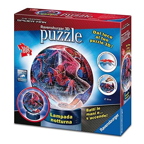 Ravensburger 12232 Spiderman - Puzzle 3D y lámpara Nocturna