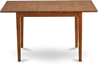 East West Furniture PST-SBR-T Table with 12-Inch Butterfly Leaf, 32 by 60-Inch