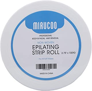 Mirucoo Non-woven Wax Strip Roll for Body and Facial Hair Removal, 2.75