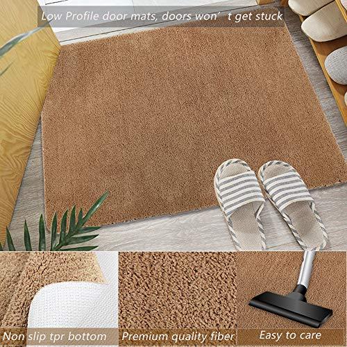 Famibay Felpudos Absorbentes Marron 60x90cm Alfombras Entrada Casa Alfombrilla Puerta Antisuciedad Felpudo Lavable Lavadora Microfibra Tapete de Entrada de Casa para Interior Exterior Cocina Baño