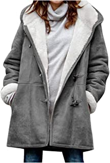 aihihe مانتو گرم زنانه زمستانی به علاوه اندازه بزرگ کت دار