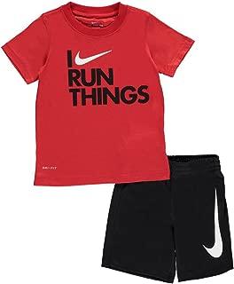 Nike Little Boys' 2-Piece Outfit (6, Black)