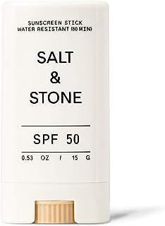 Salt & Stone - SPF 50 Tinted Sunscreen Stick - Mineral, Zinc Oxide, Broad Spectrum, Water Resistant, Reef Safe, Face + Bod...