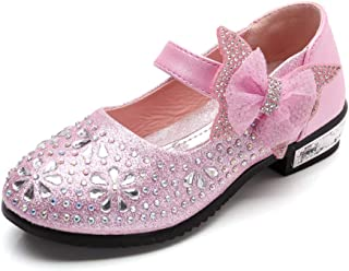 Little Girls Ballet Mary Jane Flats Toddler Sparkle Bowknot Ballerina Wedding Party Princess Dress Shoes (Toddler/Little Kids)