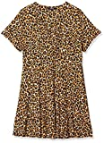 SIMPLY BE Ladies Jersey Skater Dress Vestido, Multicolor (Animal Print 001), 44 para Mujer