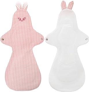 (グナレン) GNARAN 布ナプキン ウイングタイプ ウサギ XLサイズ 2枚セット 防水 昼用 多い日用 生理用布ナプキン 可愛い布ナプキン 生理用布ナプキン 純綿使用