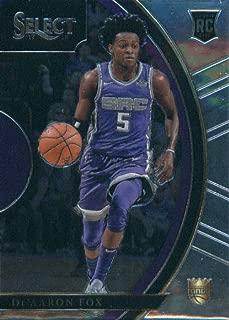 2017-18 Panini Select #49 De'Aaron Fox Sacramento Kings Rookie Basketball Card
