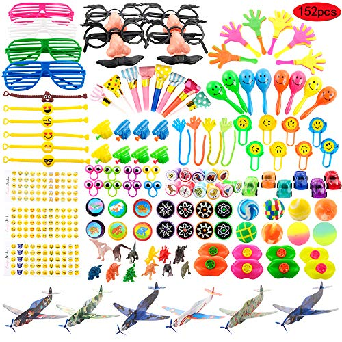 Kissdream 152PCS Carnival Prizes for Kids Birthday Party Favors Prizes Box Toy Assortment for Classroom