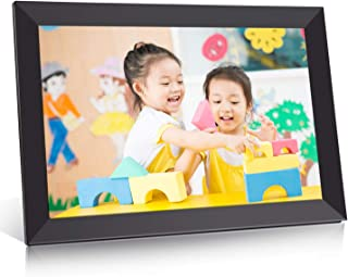 BIGASUO デジタルフォトフレーム WiFi 10.1型 IPS高精細タッチ液晶 1280*800解像度 16GB内蔵 360度回転可能 写真動画自動に放送 SDカード/アプリFrameo対応 日本語取扱説明書 一年保証 ブラック