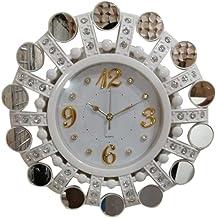 ساعة حائط أنيقة مدورة لون أبيض