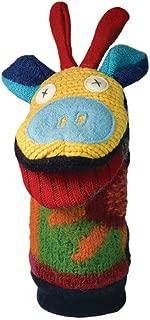 Cate & Levi - Hand Puppet - Premium Reclaimed Wool - Handmade in Canada - Machine Washable (Giraffe)