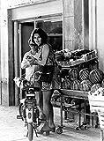 Celebrity Photos Sophia Loren at a Fruit Store Photo Print