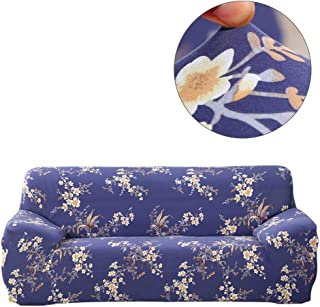 ele ELEOPTION Printed Sofa Cover Sectional 1pcs DIY-Hengwei Stretch Elastic Polyester Tight Wrap All-Inclusive Slip-Resistant Slipcovers Furniture Protector - (Acacia Flower 3 Seat)