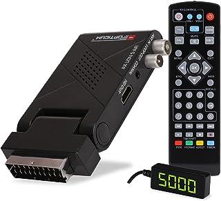 RED OPTICUM AX Lion 5 AIR DVB-T2 H.265 receiver met opnamefunctie, externe infraroodsensor met LED-display, HDMI/SCART, US...