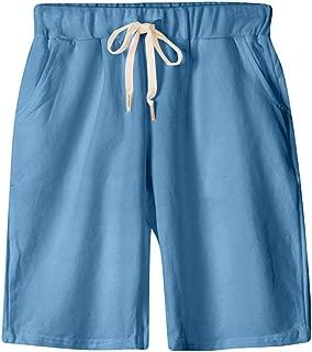 XinDao Women's Soft Knit Elastic Waist Jersey Bermuda Shorts with Drawstring