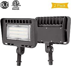 LIGHTDOT 2 Pack 70W LED Flood Light, 8400Lm 5000K Knuckle Mount, IP65 Waterproof Super Brigh LED Security Light for Outdoor Doorways Gardens Yards, Advertising Boards and Parking Lot