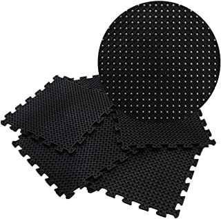 Rubber-Cal Eco-Drain Interlocking Rubber Tiles - 5/8 x 20 x 20 inch - Pack of 4 Drainage Tiles, 11 Square Feet Coverage - ...