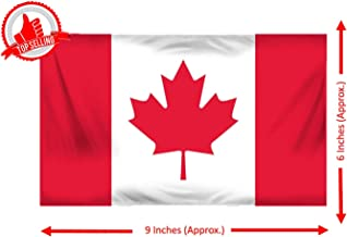 Selling Uniqness Polyester Indoor Countries Miniature Double Sided Flags Made of Warp Knitted Without Table Stand (Canada, 9X6 Inch)