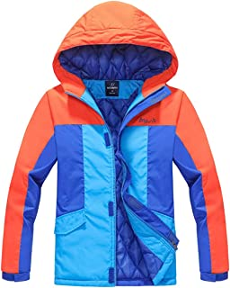 Deslify Boys Thick Quilt Lined Jacket Windproof Winter Coat
