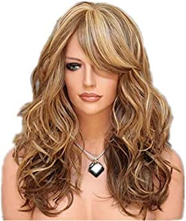 Asdfnfa Fashion Blonde Wigs for Women Synthetic Wig Costume Very Natural Looking