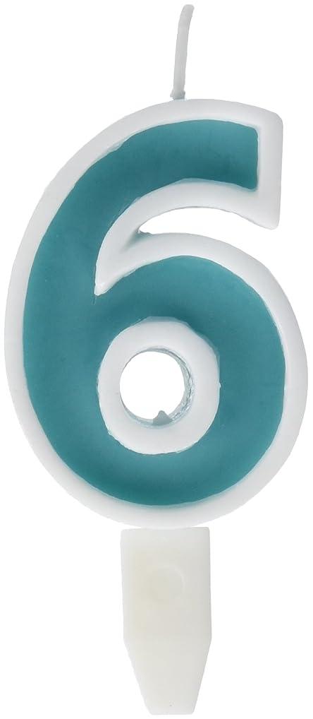 放置進化するふくろうナンバーキャンドルビッグ 6番 「 ライトブルー 」 10個セット 75510706LB