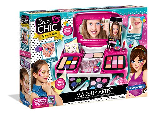 Clementoni 15234 15234-Crazy Chic-Make-up-Artist, bunt, Sin Talla